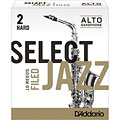 D'Addario Select Jazz Filed Alto Sax 2H « Blätter