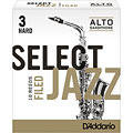 D'Addario Select Jazz Filed Alto Sax 3H « Blätter