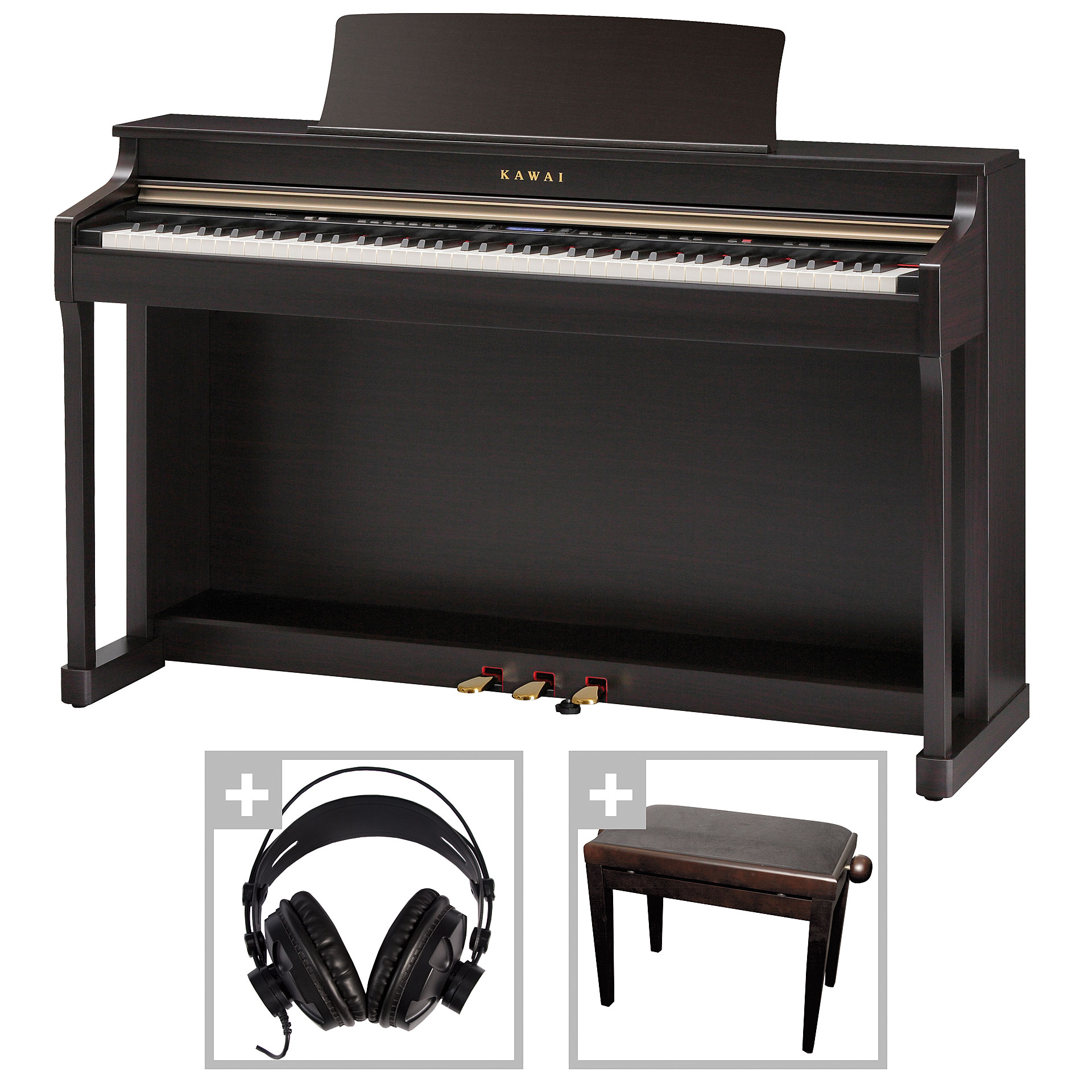 kawai cn 35 r bundle digitalpiano. Black Bedroom Furniture Sets. Home Design Ideas