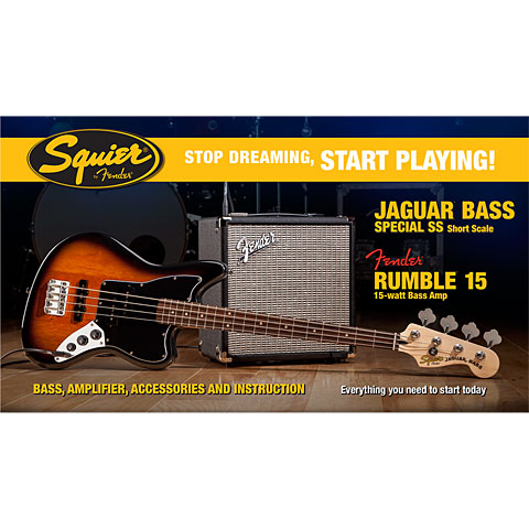 Squier Affinity Jaguar Bass Special SS & Rumble 15