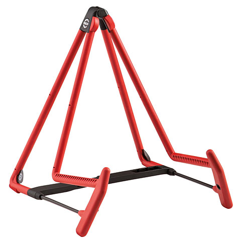 K&M 17580 A-guitar stand Heli 2 red