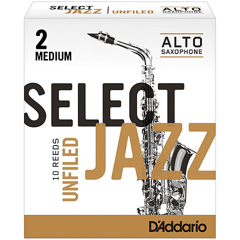 D'Addario Select Jazz Unfiled Alto Sax 2M