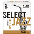 D'Addario Select Jazz Unfiled Alto Sax 3S « Blätter