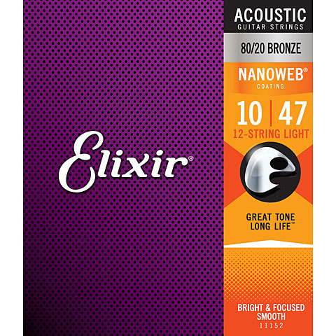 Elixir Nanoweb Bronze 12-String Light .010-047