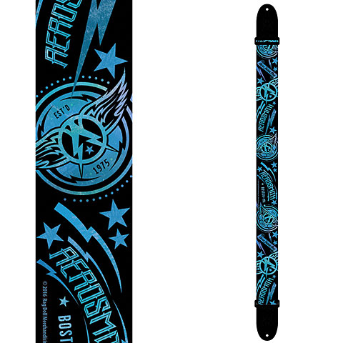 Perri's Leathers Ltd Aerosmith Poly Strap Black