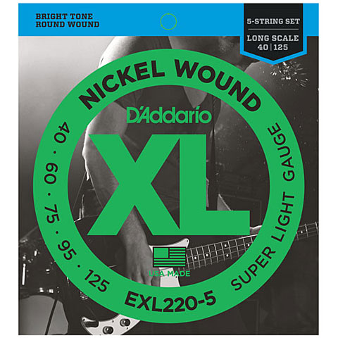 D'Addario EXL220-5 Nickel Wound .040-125